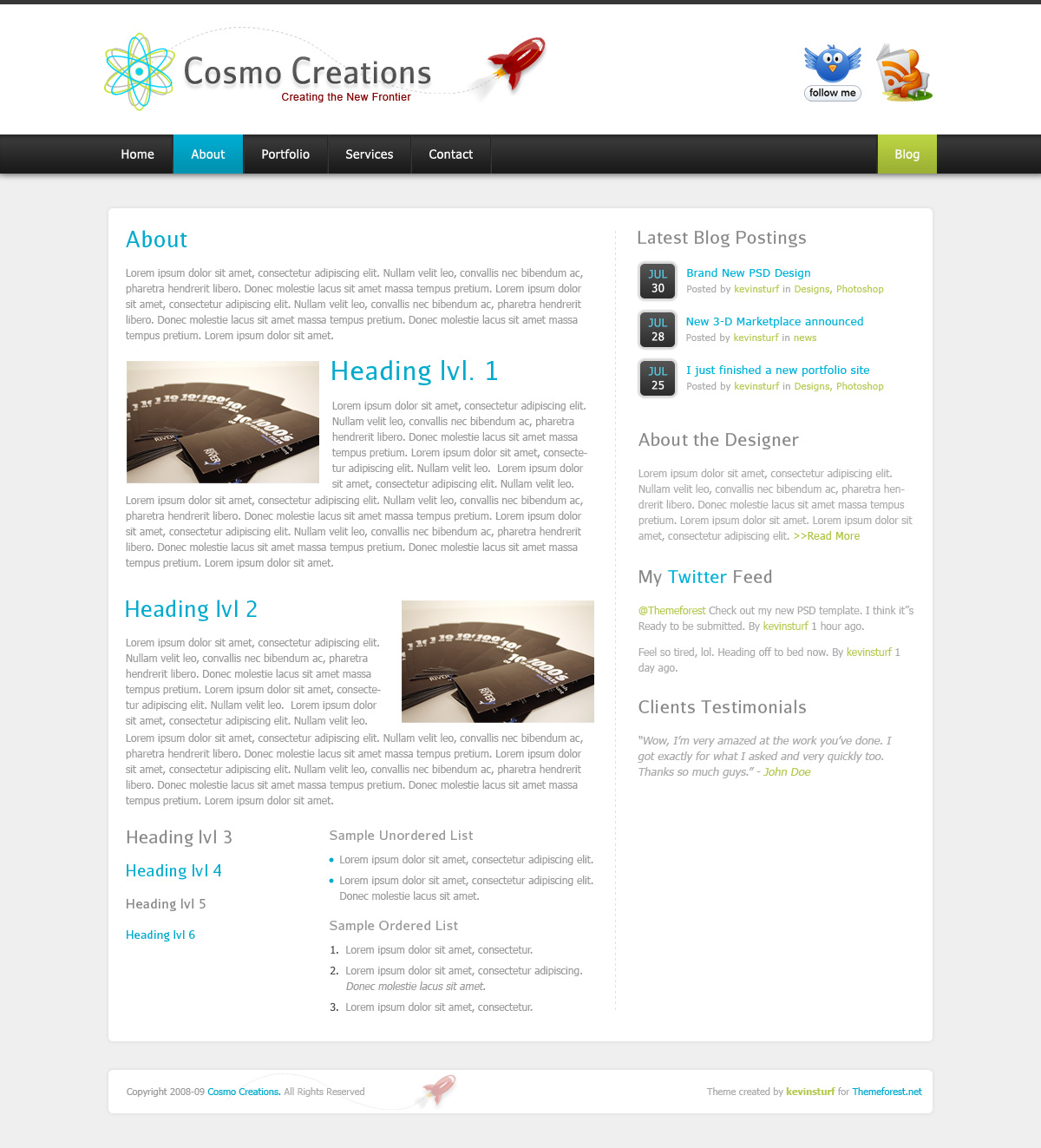 Cosmo Creations | Modern Portfolio & Business